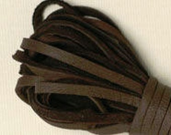 Chocolate Brown Deerskin Lace