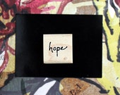 Nancy Curry Art  hand-lettered hope rubber stamp