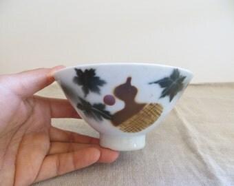 Vitange Japanese Rice bowl - Hyoutan (gourd) - 1940s, Made in prewar Japan