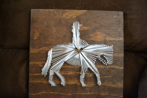 Items similar to Custom Horse/Mule String Art on Etsy