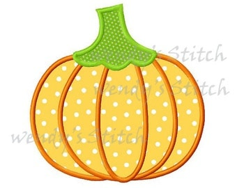 Instant download Pumpkin applique machine embroidery design