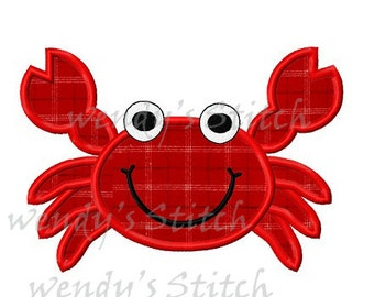 Crab applique machine embroidery digital design pattern