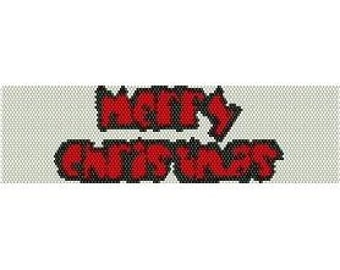 Instant Download Beading Pattern Peyote Stitch Bracelet Merry Christmas Seed Bead Cuff
