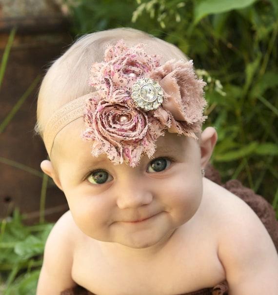 Items Similar Vintage Baby Headbands Shabby Headband