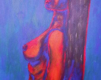 The Woman III - an original painting by Liena Ivanova