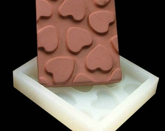 Oblong Heart Chocolate Mold Flexible Silicone Cake Fondant Mould Candle Icing Chocolate Fimo Resin Crafts DIY Mould in Handmade