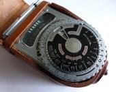 vintage SEKONIC Light Meter l vi no. 119262 Photography Pix photo w/ Leather Case Old Retro Antique FREE SHIPPING usa destash repurpose