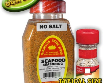 SEAFOOD Seasoning, No Salt 11 oz