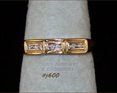 10K Gold Band With Diamonds (Inventory #J600)