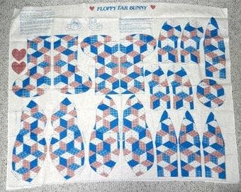 Vintage Fabric Craft Panel - Floppy Ear Bunny