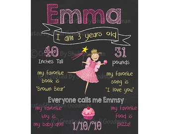 PINKALICIOUS Chalkboard Birthday Sign - PRINTABLE
