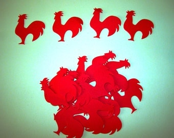 Rooster confetti or  cupcake topper picks