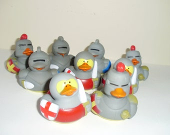 9 Medieval Rubber Ducks - great for parties!