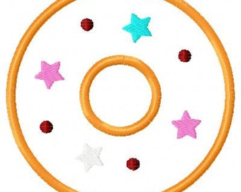 Donut Embroidery Applique Designs (3 designs)