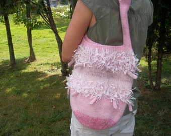 Pretty in Pink Felted Hobo Bag