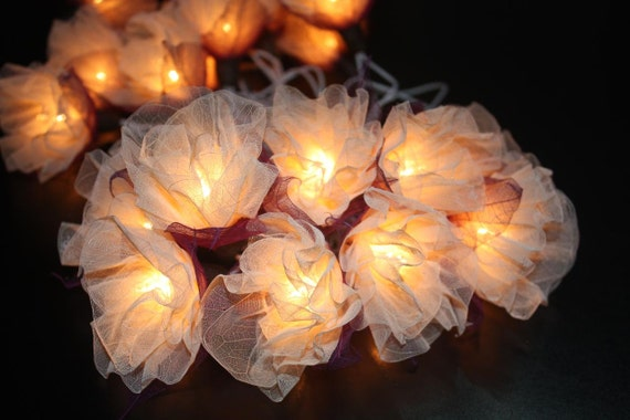 Outdoor String Lights Etsy : Fairy string lights 20 pieces for home by CottonBallSecret on Etsy