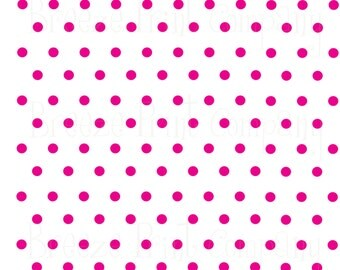 White with magenta polka dots craft  vinyl sheet - HTV or Adhesive Vinyl -  polka dot pattern   HTV18