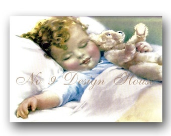 Baby Boy Printable Digital Download, ACEO, Printable Baby Gift Tags, Digital Baby Shower, Vintage Digital,Digital Collage,Transfer Images