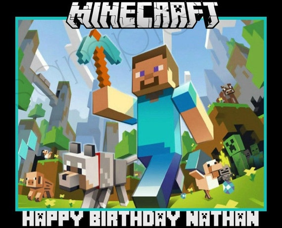 Minecraft Edible Image Cake Ideas And Designs