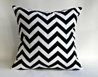 Black and white pillow covers, Pillows  Cushion Covers , Black chevron pillow cover, chevron euro sham, chevron lumbar pillow