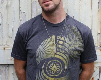 Mens Sacred Geometry Clothing - Crop Circle Shirt - REFLECTION