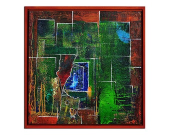 "Acrylic, abstract painting, Original Art by AG: ""Das kann doch jeder II, Hintertü"",Gallery of modern & contemporary  Art The Artmakers"