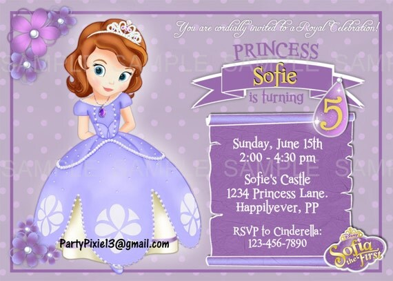 Items similar to Disney Princess Sofia the First Party ...