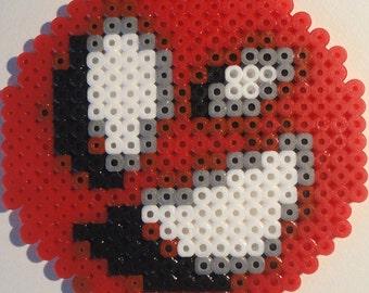 Red Puff N Cream Face Bead Sprite
