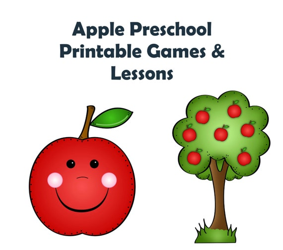Apple Lesson Game - Homeschool - Learning Pack - School Printables - File Folder Game