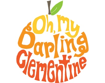 Oh, My Darling Clementine Ombre . 8x10 printable download