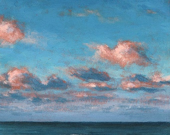 Morning at the Beach . giclee art print of morning at the beach