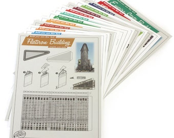 Build Your Own New York postcard paper model kits