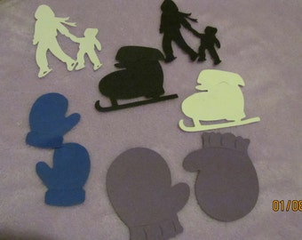 skating and mittens die cuts