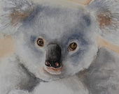 Baby Koala, PRINT,  Watercolour painting, Wildlife painting, baby wall art Print,  Nursery decor, Free Shipping