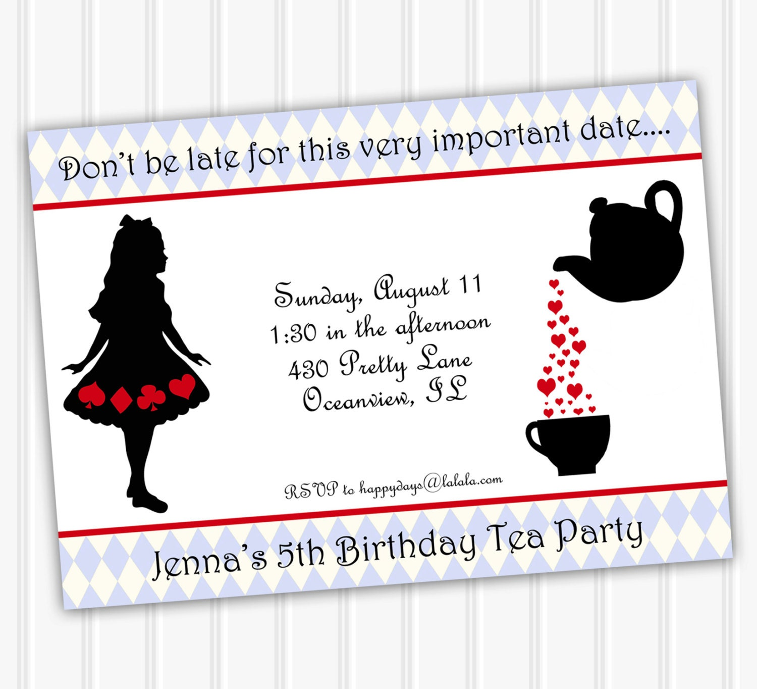 Alice in Wonderland Invitation INSTANT DOWNLOAD Alice in