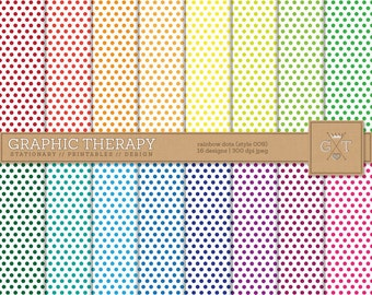 Rainbow Dots Digital Paper Available for Instant Download