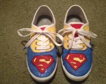Superhero - custom, handpainted, made to order shoes