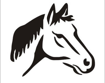 Canny image for horse stencil printable