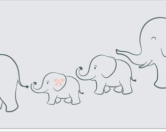 Items similar to Nursery Stencils BABY ELEPHANT 9.5 Wide x ...