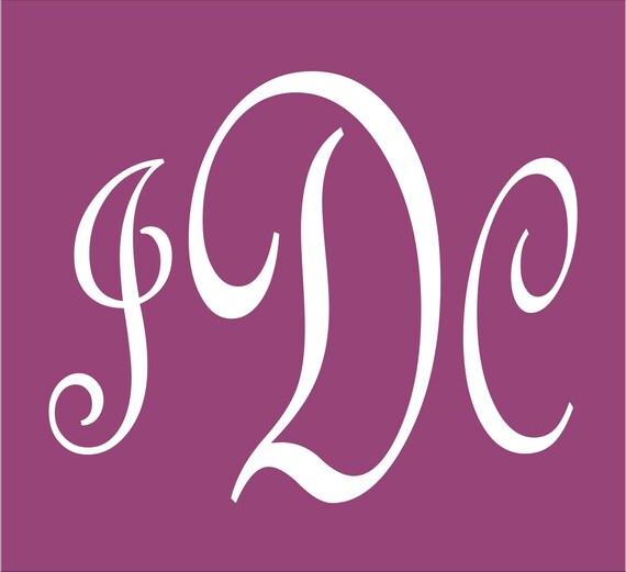 Items similar to stencils custom monogram stencil large 9 for Large monogram letter stencil