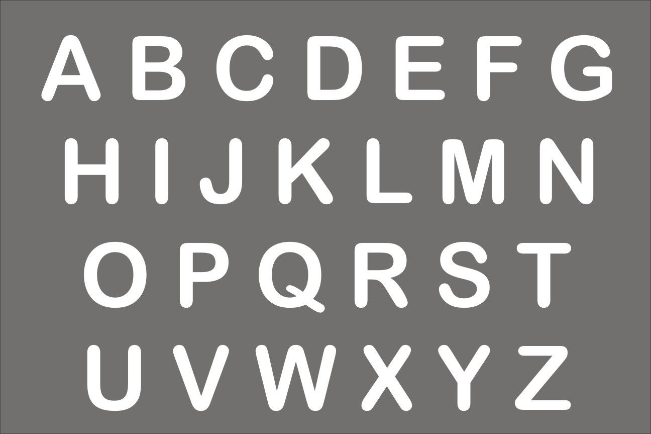 It's just an image of Peaceful Printable Letters Stencils