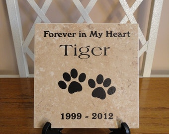 Pet Memorial Personalized Tile, Dog, Cat, Horse, Bird, Animal & more. Any Theme.