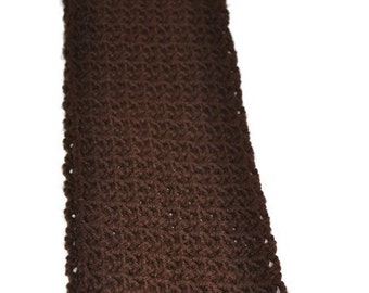 Handmade lacy crochet infinity scarf/cowl