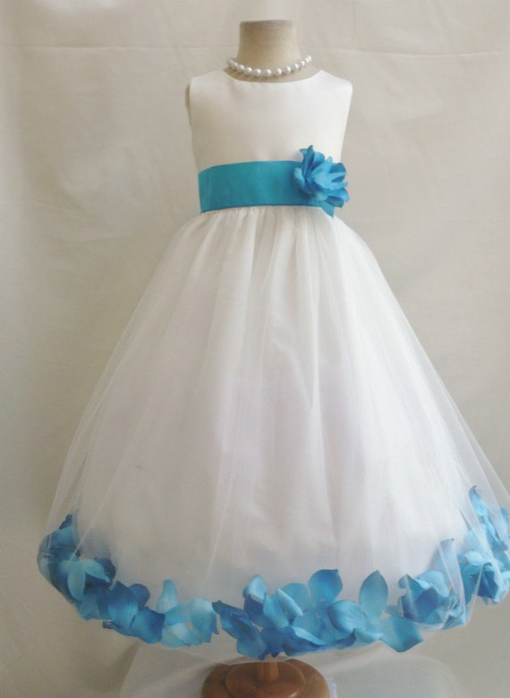 Turquoise flower girl dress sanmaz kones turquoise flower girl dress mightylinksfo