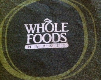 Whole Foods Growing Together Upcycled Reusable T-Shirt Tote Medium Size