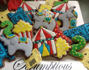 18 Circus cookie Platter.
