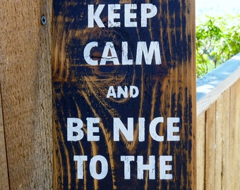 Keep Calm and Be Nice To The Dean - Vertical Sign - Keep Calm Sign - Teacher - Education - Humorous