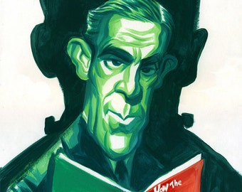 Boris Karloff original painting