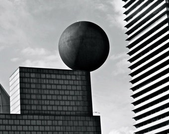 Barcelona Photography - Black and White Print - Spain - Balance - Architecture Photograph