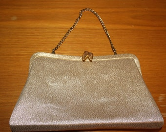 Vintage Gold Shimmery Formal Evening Purse, Elegant and Delicate, Very Nice on Sale